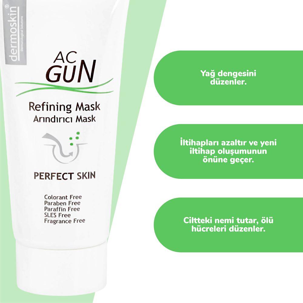 Dermoskin Acgun Sivilceli ve Akneli Ciltler İçin Arındırıcı Mask
