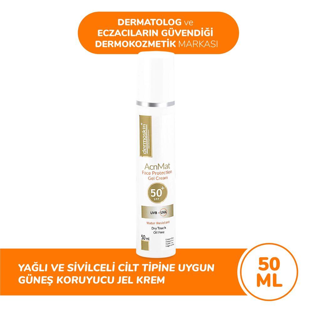 Dermoskin Spf 50 +  Acne Mat Güneş Koruyucu Jel Krem