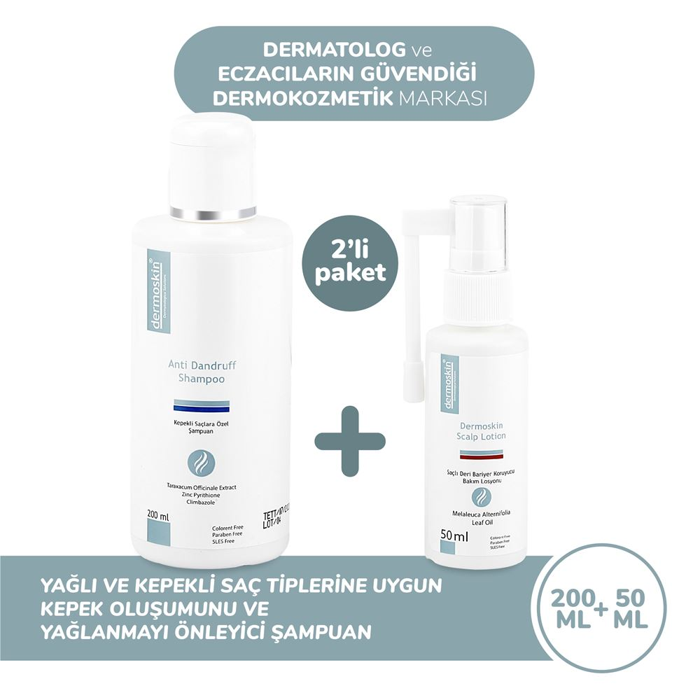 Dermoskin Anti Dandruff Shampoo Kepekli Saçlara Özel Şampuan