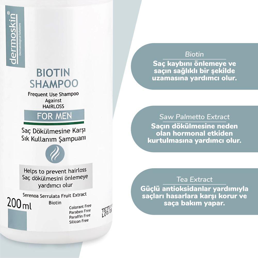 Dermoskin Biotin Şampuan Erkek