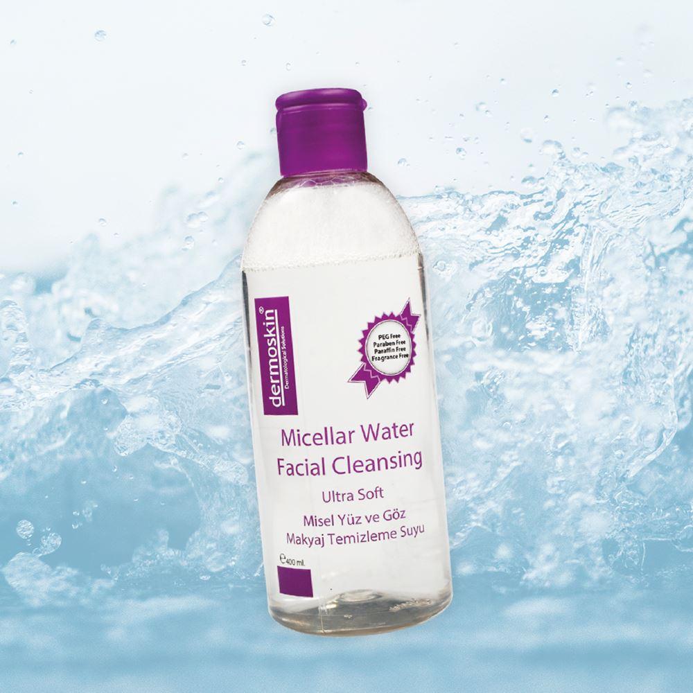Dermoskin Micellar Yüz ve Göz Temizleme Suyu + Yüz ve Vücut Peeling Jel 2'li Bakım Set